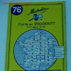 Mapas contemporáneos: ANTIGUO MAPA DE MICHELIN ESPAÑA - NEUMATICOS MICHELIN - AURILLAC ST. ETIENNE - Nº 76 - GUIA CARRETER. Lote 2104287