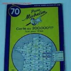 Mapas contemporáneos: ANTIGUO MAPA DE MICHELIN ESPAÑA - NEUMATICOS MICHELIN - BEAUNE EVIAN - Nº 70 - GUIA CARRETERA - COCH. Lote 2104294