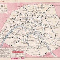 Mapas contemporáneos - Plano ferroviario de París - 26576021