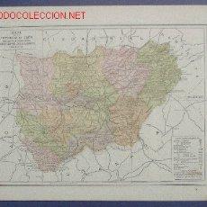 Mapas contemporáneos: MAPA DE LA PROVINCIA DE JAÉN. PUBLICADO POR ANUARIOS BAILLY BAILLERE Y RIERA. BARCELONA, 1930.. Lote 211871341