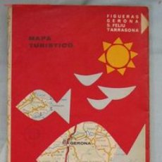 Mapas contemporáneos: MAPA TURÍSTICO COSTA BRAVA. Lote 2808774