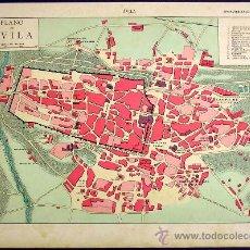 Mapas contemporáneos: PLANO Y FOTOS DE LA CIUDAD DE ÁVILA, Y MAPAS DE LA PROVINCIA. ENCICLOPEDIA. ILUST. SEGUÍ, 1905/10.. Lote 12524910