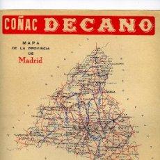Mapas contemporáneos: MAPA MADRID COMUNICACIONES AÑOS 40-50 CON PUBLICIDAD EN PARTE POSTERIOR. Lote 9948544