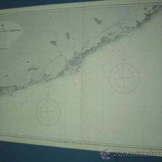 Mapas contemporáneos: CARTA MARINA DE TORTOSA AL CABO SAN SRBASTIAN. Lote 10893339