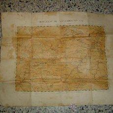 Mapas contemporáneos: VIEJO MAPA MILITAR MANIAOBRAS DE CABALLERIA DE 1904. Lote 11089029