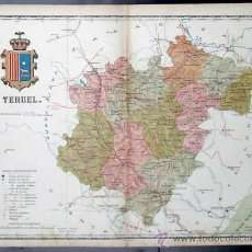 Mapas contemporáneos: MAPA DE LA PROVINCIA DE TERUEL. DEL ATLAS DE LAS PROVINCIAS. ANTONIO MARTÍN EDITOR. B, S/F.. Lote 12993962