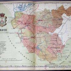 Mapas contemporáneos - MAPA DE LA PROVINCIA DE CÁDIZ. DEL ATLAS DE LAS PROVINCIAS. ANTONIO MARTÍN EDITOR. B, S/F. - 167943470