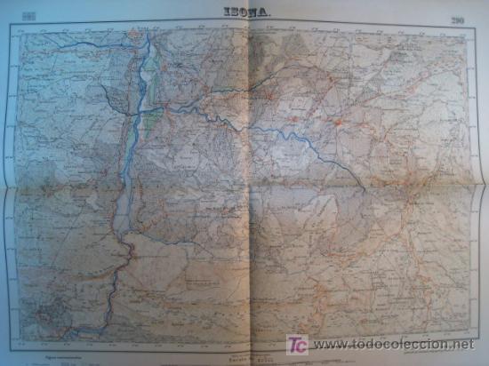 MAPA ISONA (SERVICIO GEOGRAFICO EJERCITO) 1951 (Coleccionismo - Mapas - Mapas actuales (desde siglo XIX))