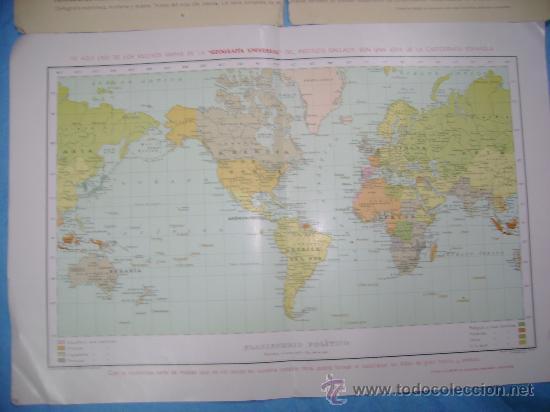 Mapas contemporáneos: DOS MAPAS ANTIGUOS DE GEOGRAFIA UNIVERSAL - Foto 2 - 26824072