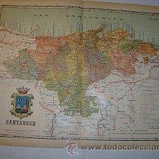 Mapas contemporáneos: 1910 MAPA DE LA PROVINCIA DE SANTANDER DE BENITO CHIAS. Lote 125891655