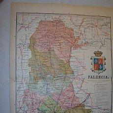 Mapas contemporáneos: 1910 MAPA DE LA PROVINCIA DE PALENCIA DE BENITO CHIAS. Lote 26312972