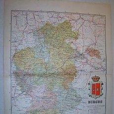 Mapas contemporáneos: 1910 MAPA DE LA PROVINCIA DE BURGOS DE BENITO CHIAS. Lote 26613175
