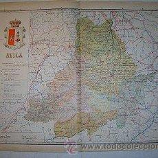 Mapas contemporáneos: 1910 MAPA DE LA PROVINCIA DE AVILA DE BENITO CHIAS. Lote 163338430