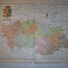 Mapas contemporáneos: 1910 MAPA DE LA PROVINCIA DE TOLEDO DE BENITO CHIAS. Lote 27287623