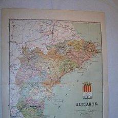 Mapas contemporáneos: 1910 MAPA DE LA PROVINCIA DE ALICANTE DE BENITO CHIAS. Lote 57381564