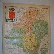 Mapas contemporáneos: 1910 MAPA DE LA PROVINCIA DE NAVARRA DE BENITO CHIAS. Lote 27194034