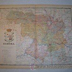 Mapas contemporáneos: 1910 MAPA DE LA PROVINCIA DE ZAMORA DE BENITO CHIAS. Lote 26312966