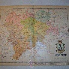 Mapas contemporáneos: 1910 MAPA DE LA PROVINCIA DE ALBACETE DE BENITO CHIAS. Lote 27492579