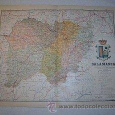 Mapas contemporáneos: 1910 MAPA DE LA PROVINCIA DE SALAMANCA DE BENITO CHIAS. Lote 26433440
