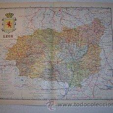 Mapas contemporáneos: 1910 MAPA DE LA PROVINCIA DE LEON DE BENITO CHIAS. Lote 112311100