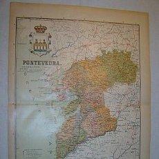 Mapas contemporáneos: 1910 MAPA DE LA PROVINCIA DE PONTEVEDRA DE BENITO CHIAS. Lote 25030395