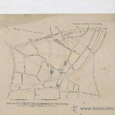 Mapas contemporáneos: MAPA DE SANT FELIU DE LLOBREGAT. REVISAT PER GABRIEL BORRELL. 19 X. 28 CM. ANY 1913. . Lote 12691504