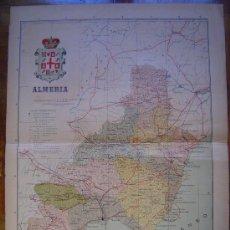 Mapas contemporáneos: 1910 MAPA DE LA PROVINCIA DE ALMERIA DE BENITO CHIAS. Lote 27164251