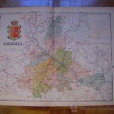 Mapas contemporáneos: 1910 MAPA DE LA PROVINCIA DE ZARAGOZA DE BENITO CHIAS. Lote 26496026