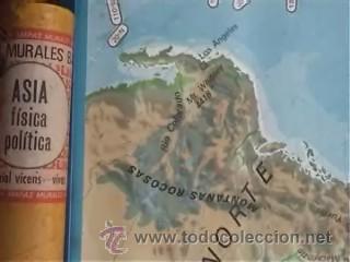 Mapas contemporáneos: MAPA COLEGIO MAPAS MURALES ASIA FISICA POLITICA A DOS CARAS VICENS VIVES 82X127CM - Foto 2 - 12963337