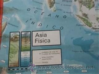 Mapas contemporáneos: MAPA COLEGIO MAPAS MURALES ASIA FISICA POLITICA A DOS CARAS VICENS VIVES 82X127CM - Foto 3 - 12963337