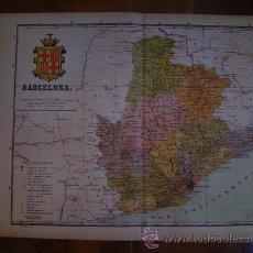 Mapas contemporáneos: 1910 MAPA DE LA PROVINCIA DE BARCELONA DE BENITO CHIAS. Lote 134001641