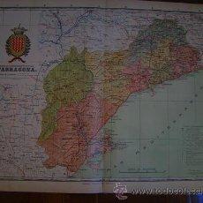 Mapas contemporáneos: 1910 MAPA DE LA PROVINCIA DE TARRAGONA DE BENITO CHIAS. Lote 134001662