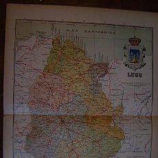 Mapas contemporáneos: 1910 MAPA DE LA PROVINCIA DE LUGO DE BENITO CHIAS. Lote 26524255