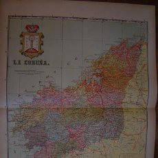 Mapas contemporáneos: 1910 MAPA DE LA PROVINCIA DE LA CORUÑA DE BENITO CHIAS. Lote 21805309