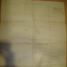 Mapas contemporáneos: CADIZ. FEBRERO 1924. CUADERNA MAESTRA DEL VAPOR ANTONIO LOPEZ. ESCALA 1/2= 1 PIE. Lote 23690483