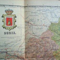 Mapas contemporáneos: MAPA ENTELADO ,PROVINCIA DE SORIA -MUY BIEN CONSERVADO. Lote 25853070