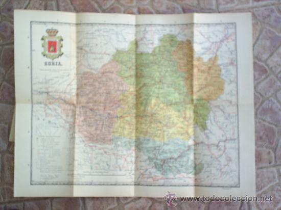 Mapas contemporáneos: MAPA ENTELADO ,PROVINCIA DE SORIA -MUY BIEN CONSERVADO - Foto 3 - 25853070