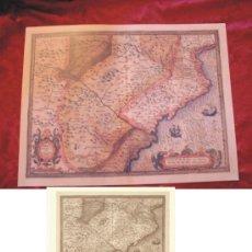 Mapas contemporáneos: REPRODUCCIÓN MAPA ARAGÓN CATALUÑA DE 1535 MIGUEL SERVET. Lote 222180007