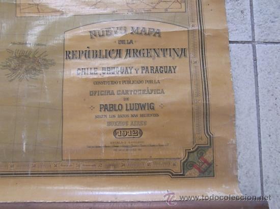ANTIGUO MAPA DE ARGENTINA (Coleccionismo - Mapas - Mapas actuales (desde siglo XIX))