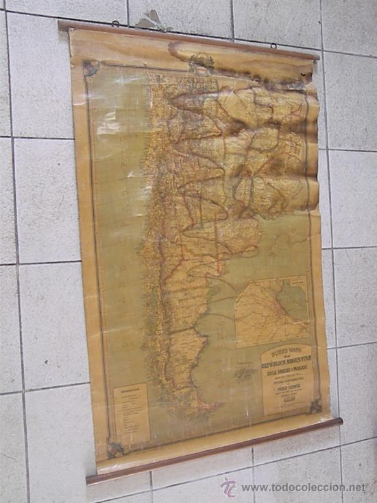 Mapas contemporáneos: ANTIGUO MAPA DE ARGENTINA - Foto 2 - 27582618