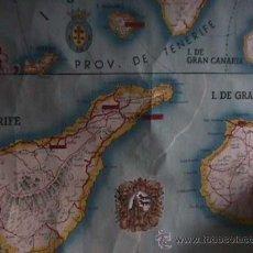 Mapas contemporáneos: MAPA DE LAS ISLAS CANARIAS, PROPAGANDA DEL BANCO DE BILBAO, 1948. Lote 17968039