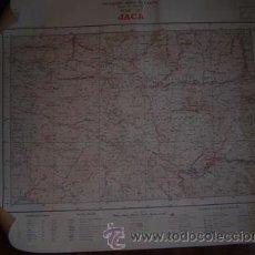Mapas contemporáneos: JACA MAPA DE MANDO DE LA CARTOGRAFIA MILITAR DE ESPAÑA E 1:100000. Lote 27324529