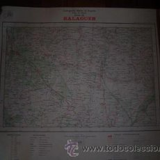 Mapas contemporáneos: BALAGUER MAPA DE MANDO DE LA CARTOGRAFIA MILITAR DE ESPAÑA E 1:100000. Lote 27639164