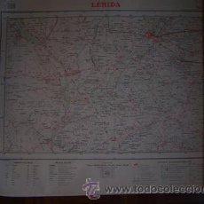 Mapas contemporáneos: LERIDA MAPA DE MANDO DE LA CARTOGRAFIA MILITAR DE ESPAÑA E 1:100000. Lote 126370950