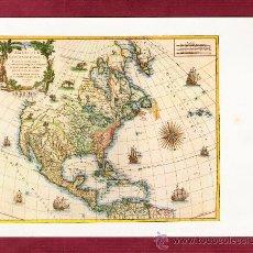 Mapas contemporáneos: MAGNÍFICO DÍPTICO. MAPA AMÉRICA - KIM KE 25 X 656. Lote 14297278