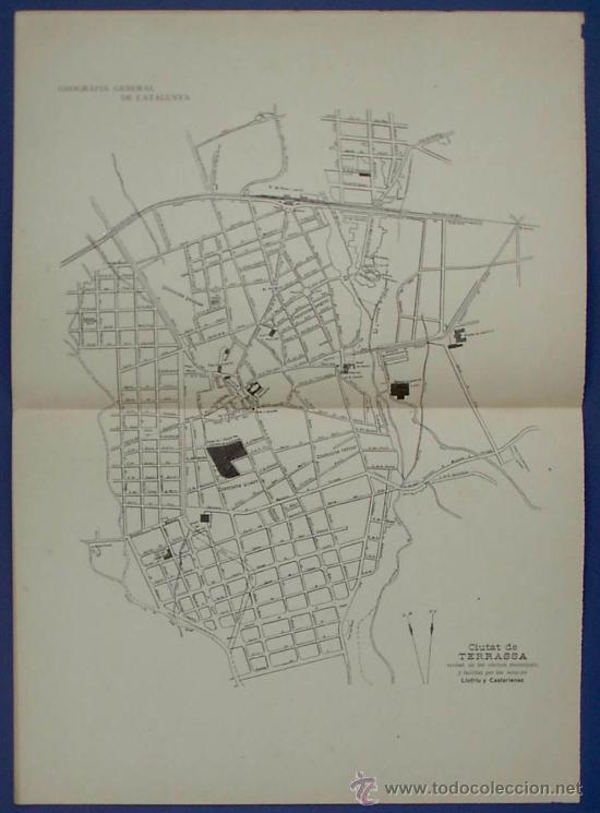 Plano De La Ciutat De Terrassa Geografia Gener Comprar Mapas