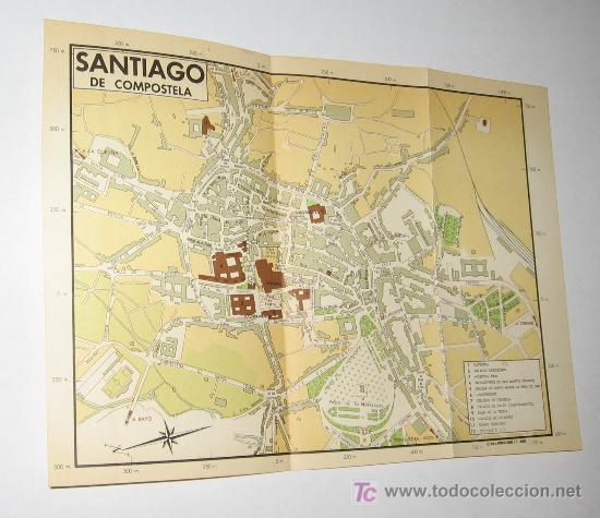Callejero Mapa De Santiago De Compostela.Santiago De Compostela Plano Callejero Ano 19 Sold
