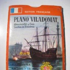 Mapas contemporáneos: PLANO Y GUIA DESPLEGABLE BARCELONA - VILADOMAT. Lote 183066848