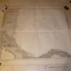 Mapas contemporáneos: MAPA ORIGINAL DEL CABO GRACIAS A DIOS AL GOLFO DE DARIEN, USA 1912. Lote 26066262