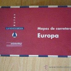 Mapas contemporáneos: LOTE DE COLECCION DE 14 MAPAS DE CARRETERAS DE EUROPA DE LAVANGUARDIA + LA FUNDA ORIGINAL. 1994. Lote 14558553